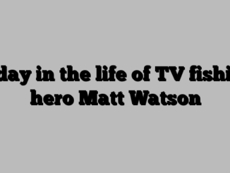 A day in the life of TV fishing hero Matt Watson