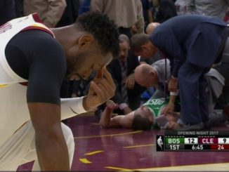Gordon Hayward suffered a gruesome broken leg just minutes into his first game with the Celtics