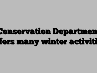 Conservation Department offers many winter activities