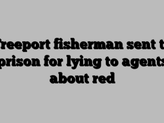 Freeport fisherman sent to prison for lying to agents about red