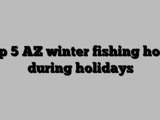 Top 5 AZ winter fishing holes during holidays