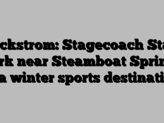 Wickstrom: Stagecoach State Park near Steamboat Springs is a winter sports destination