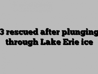 3 rescued after plunging through Lake Erie ice
