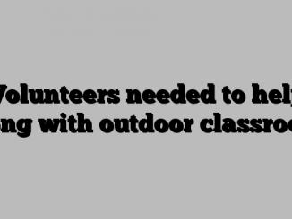 Volunteers needed to help Bong with outdoor classroom