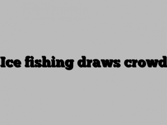 Ice fishing draws crowd
