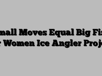 Small Moves Equal Big Fish for Women Ice Angler Project