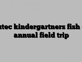 Aztec kindergartners fish on annual field trip