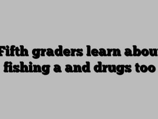 Fifth graders learn about fishing a and drugs too