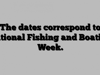 The dates correspond to National Fishing and Boating Week.