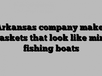 Arkansas company makes caskets that look like mini fishing boats