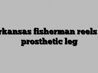 Arkansas fisherman reels in prosthetic leg