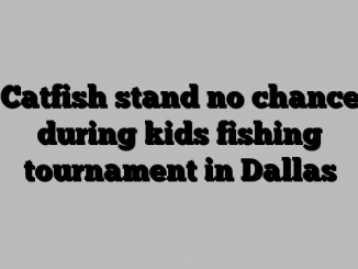 Catfish stand no chance during kids fishing tournament in Dallas