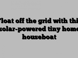 Float off the grid with this solar-powered tiny home houseboat