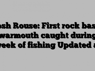 Josh Rouse: First rock bass, warmouth caught during week of fishing Updated at