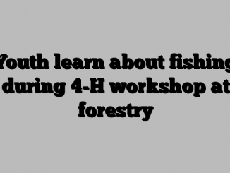 Youth learn about fishing during 4-H workshop at forestry