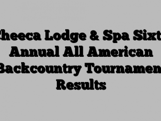 Cheeca Lodge & Spa Sixth Annual All American Backcountry Tournament Results