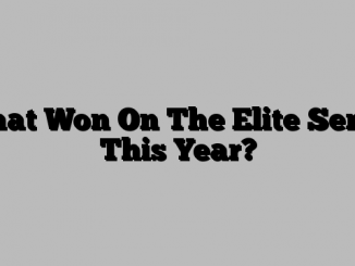 What Won On The Elite Series This Year?
